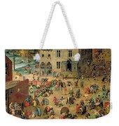 Children's Games Weekender Tote Bag by Pieter the Elder Bruegel