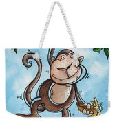 Childrens Whimsical Nursery Art Original Monkey Painting Monkey Buttons By Madart Weekender Tote Bag