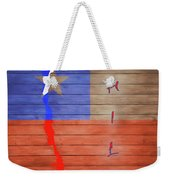 Chile Rustic Map On Wood Weekender Tote Bag
