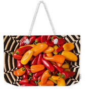 Chili Peppers In Basket  Weekender Tote Bag