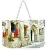 Chilli Peppers And Onions Hanging On The Wall Weekender Tote Bag