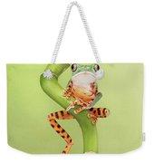 Chilling Tiger Leg Monkey Tree Frog Weekender Tote Bag