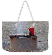 Chilly Morning Weekender Tote Bag