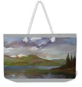 Chimney Rock  At Priest Lake  Plein Air Weekender Tote Bag