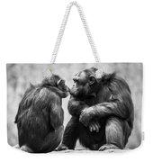 Chimpanzee Pair Weekender Tote Bag