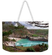China Cove At Point Lobos Weekender Tote Bag by Charlene Mitchell