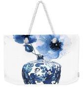 China Ming Vase With Flower Weekender Tote Bag