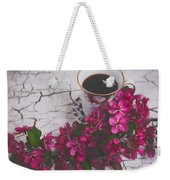 Chinaberry Blossoms And Coffee Cup Weekender Tote Bag