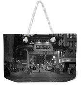 Chinatown Gate Boston Ma Black And White Weekender Tote Bag