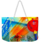 Chinatown Window Reflection 3 Weekender Tote Bag