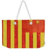 Chinese American Flag Vertical Weekender Tote Bag