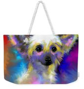 Chinese Crested Dog Puppy Painting Print Weekender Tote Bag