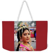 Chinese Cultural Fashion Girl Weekender Tote Bag