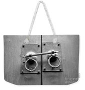 Chinese Door And Lock - Black And White Weekender Tote Bag