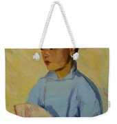 Chinese Girl With Fan 1914  Weekender Tote Bag
