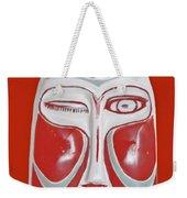 Chinese Porcelain Mask Red Weekender Tote Bag