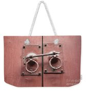 Chinese Red Door With Lock Weekender Tote Bag