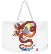 Chinese Red Dragon Weekender Tote Bag