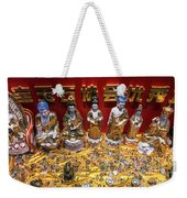 Chinese Religious Trinkets And Statues On Display In Xiamen Chin Weekender Tote Bag