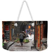 Chinese Woman Carrying Vegetables Weekender Tote Bag