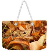 Chipmunk Among The Leaves Weekender Tote Bag