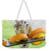 Chipmunk And Oranges 2 Weekender Tote Bag