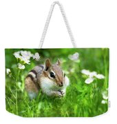 Chipmunk Saving Seeds Weekender Tote Bag