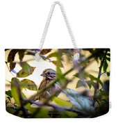 Chipping Sparrow In The Brush Weekender Tote Bag