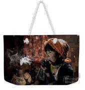 Cho Chin Woman Smoking  Weekender Tote Bag