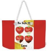 Chocolate - 7  Strawberry Weekender Tote Bag