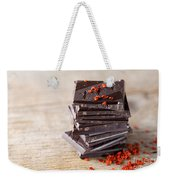 Chocolate And Chili Weekender Tote Bag by Nailia Schwarz
