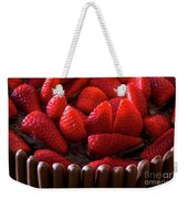 Chocolate And Strawberry Cake Weekender Tote Bag