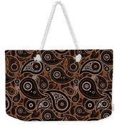 Chocolate Brown Paisley Design Weekender Tote Bag