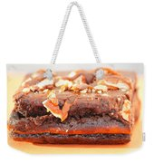 Chocolate Brownie With Nuts Dessert Weekender Tote Bag