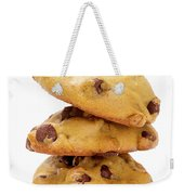 Chocolate Chip Cookies Isolated On White Background Weekender Tote Bag