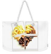 Chocolate Heart Mosaic Weekender Tote Bag