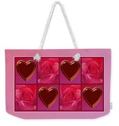 Chocolate Hearts And Roses Weekender Tote Bag
