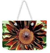 Chocolate Sunflower Weekender Tote Bag