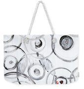 Choices In White Weekender Tote Bag
