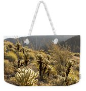 Cholla Cactus And Ocotillo Plants Weekender Tote Bag