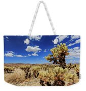 Cholla Cactus Garden In Joshua Tree National Park Weekender Tote Bag