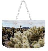 Cholla Cactus Garden Landscape Weekender Tote Bag
