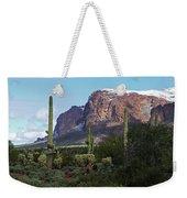 Cholla  Saguaro Superstition Mountain Weekender Tote Bag