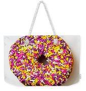 Cholocate Donut With Sprinkles Weekender Tote Bag by Garry Gay