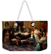Chopin Playing The Piano In Prince Radziwills Salon Weekender Tote Bag