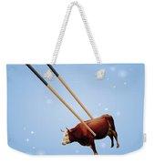 Chopsticks Cow Blue Stars Weekender Tote Bag