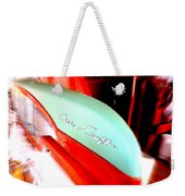 Chris Craft In Blur  Weekender Tote Bag