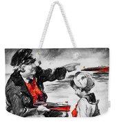 Chris-craft Sailor And Sailor Vintage Ad Weekender Tote Bag