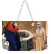 Christ And The Samaritan Woman Fragment 1311 Weekender Tote Bag