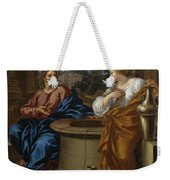Christ And The Woman Of Samaria Weekender Tote Bag